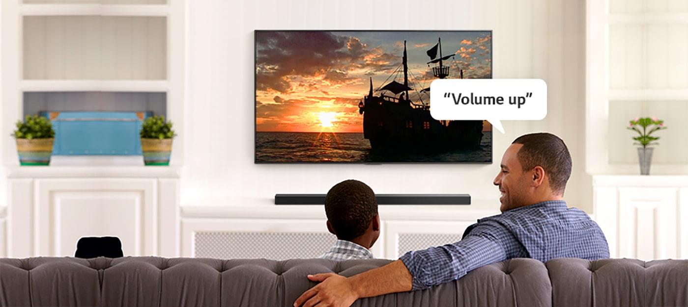 شاهد اجرا شدن دستورات صوتی خود بر روی تلویزیون باشید