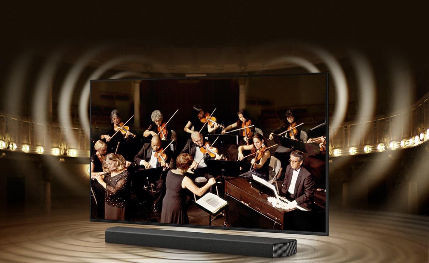 با تلویزیون سامسونگ 50AU8000  صداها را با کیفیت واقعی دریافت نمایید